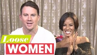 getlinkyoutube.com-Channing Tatum And Jada Pinkett Smith Talk Stripper Moves | Loose Women