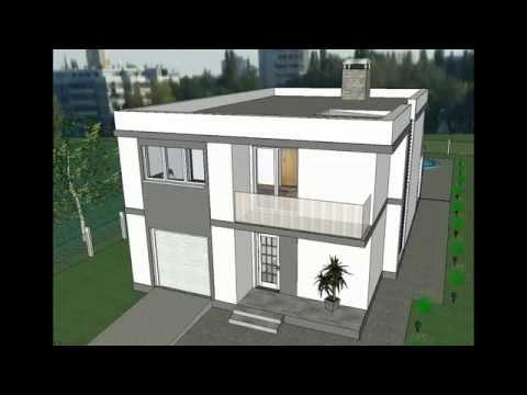 MODEL E-9 by AQ DOO, Moderna porodična kuća - četiri sobe, 200 m2