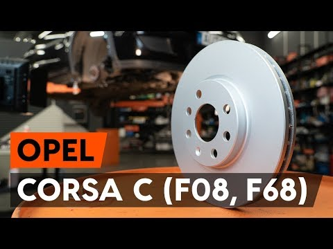 Как заменить передние тормозные диски на OPEL CORSA C (F08, F68) [ВИДЕОУРОК AUTODOC]