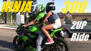 getlinkyoutube.com-Kawasaki NINJA 300 Special Edition 2Up Girl Passenger Back Ride