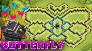getlinkyoutube.com-Clash of Clans - BUTTERFLY TOWNHALL 9 FARMING BASE! Unique Farming Design!