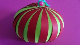 getlinkyoutube.com-DIY Saiba como fazer uma bola de natal  feito em papel  # 17