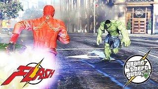 getlinkyoutube.com-The Flash VS. Hulk Mod - (GTA 5 Funny Moments)