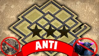 getlinkyoutube.com-Clash of clans - Town hall 9 (th9) best Anti 3 Star war base with 2 Air Sweepers
