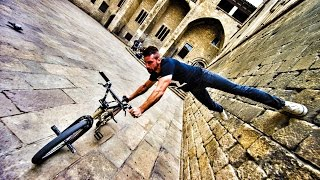 getlinkyoutube.com-Bike Parkour 2.0 - Streets of Barcelona!