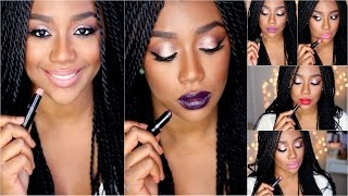 getlinkyoutube.com-Lipstick Collection for Dark Skin | Lip Swatches + Review