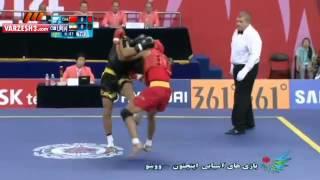 getlinkyoutube.com-Wushu Sanda- Men 65 Kg Semi-Final/ 2014 Asian Games Iran Vs China