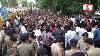 देहरादून : 7 हज़ार उपनल कर्मियों ने किया सचिवालय कूच