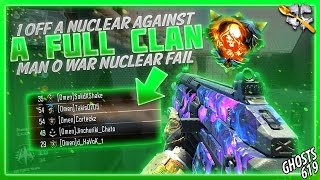 BO3: 1 Off a Nuclear Against a Full Clan! (Man o War Nuclear Fail)