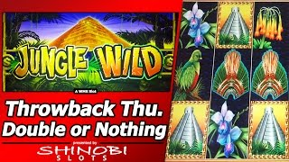getlinkyoutube.com-Jungle Wild Slot - Throwback Thursday Double or Nothing, Live Play with Free Spins Bonus