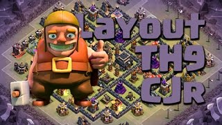 getlinkyoutube.com-CLASH OF CLANS - Best layout TH9 for WAR - Invicto!