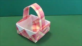 "getlinkyoutube.com-「バスケット」折り紙""Basket""origami"