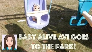getlinkyoutube.com-Baby Alive Avi Goes To The Park!