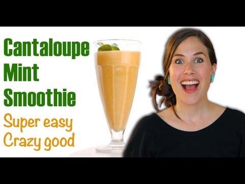 ❀❀ How to Make a Cantaloupe Mint Smoothie ❀❀