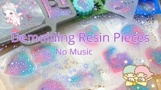 Demolding New Resin Pieces [No Music]