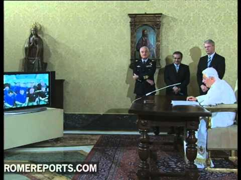 Pope questions astronauts about looking down on Earth