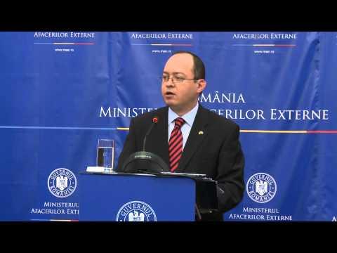 Briefing de presă susţinut de ministrul afacerilor externe Bogdan Aurescu