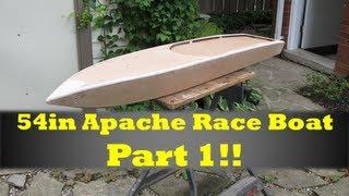 getlinkyoutube.com-54in Rc Apache Race Boat Build Part 1