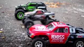 getlinkyoutube.com-Traxxas Slash vs. Stampede vs. Summit