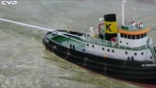 getlinkyoutube.com-CVP - Rc Tug Boat Comandante tow logs