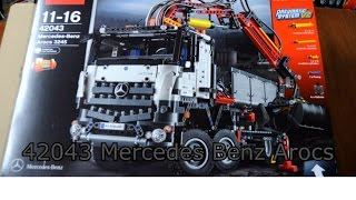 42043 Technic LEGO MERCEDES-BENZ AROCS Time-lapse build