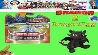 getlinkyoutube.com-How To Train Your Dragon 2 Toys Mystery Egg Toothless Toy Review - unboxing Giveaway