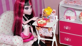 getlinkyoutube.com-How to make a baby high chair for doll (Monster High, MLP, EAH, Barbie, etc)
