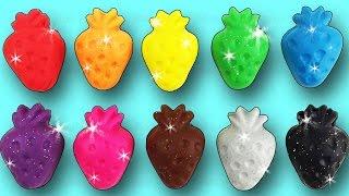 getlinkyoutube.com-Learn Colors Play Doh Strawberry Ice Cream Baby Bottle Elephant Dinosaur Fun & Creative For Kids