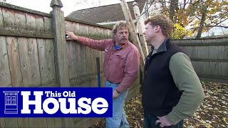 getlinkyoutube.com-How to Replace a Rotted Fence Post - This Old House