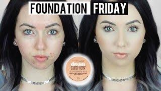 getlinkyoutube.com-NEW MAYBELLINE DREAM CUSHION FOUNDATION Acne/Pale Skin {First Impression Review & Demo!}