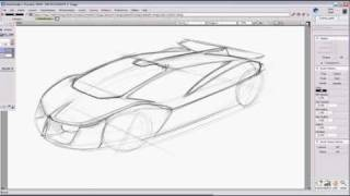 getlinkyoutube.com-Car Design Sketch Tutorial for a Supercar using Autodesk Alias Studiotools