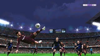 Messi scored Amazing goal | FC Barcelona vs Deportivo Alaves Full Match | PES Gameplay PC