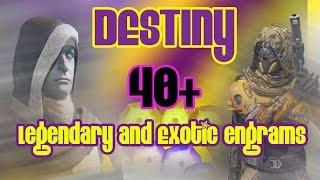 getlinkyoutube.com-Destiny - 40 ENGRAM OPENING - LEGENDARY AND EXOTIC - Destiny Cryptarch decrypting Xbox one