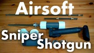 getlinkyoutube.com-How to Make a Sniper/Shotgun Airsoft Rifle