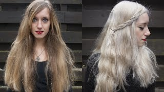 getlinkyoutube.com-HOW TO GET WHITE/SILVER/GREY HAIR! (Khaleesi Daenerys Targaryen Game of Thrones) | Rocknroller