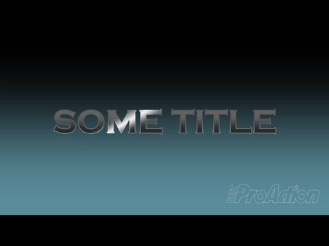 How to make and animate a title sheen in Adobe Premiere Pro.