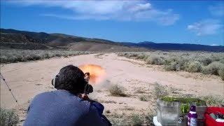 getlinkyoutube.com-1,400 yards, 18-inch target, 1859 .451 caliber Volunteer black powder muzzle-loading rifle