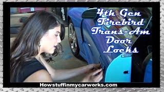 getlinkyoutube.com-Beautiful Victoria Mendoza replacing Door Locks on 4th Gen Firebird wearing Mini Dress and Heels