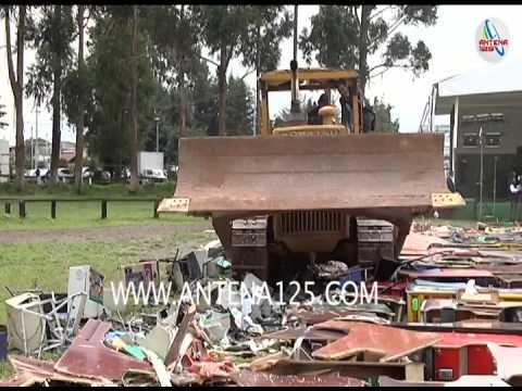 Destruyen máquinas tragamonedas en el Estado de México