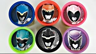 Nickelodeon POWER RANGERS Dino Charge, Purple Super Playdoh Toy Surprise, Learn Colors / TUYC