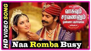 VSOP Tamil Movie | Songs | Naa Romba Busy Song | Tamanna proposes Arya | Swaminathan cancels wedding