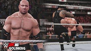 getlinkyoutube.com-WWE 2K16 Goldberg Entrance, Signature & Finisher!