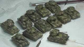 getlinkyoutube.com-15mm Panzer IV painting log: free-hand tri-tone camo