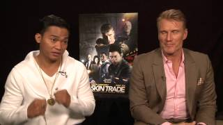 Skin Trade: Tony Jaa and Dolph Lundgren Exclusive Interview width=