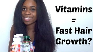 getlinkyoutube.com-Vitamins For SUPER Fast Hair Growth??? (RESULTS)