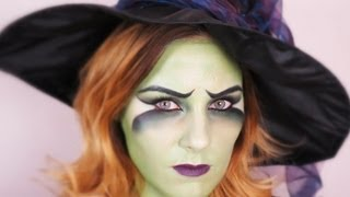 getlinkyoutube.com-Fasching/Halloween Witch MakeUp Tutorial | TheBeautysAddiction