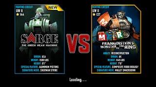 getlinkyoutube.com-Real Steel WRB Championship Sarge VS Metro Frankenstein NEW ROBOT UPDATE Halloween
