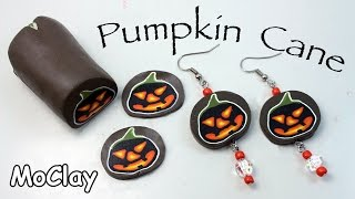 getlinkyoutube.com-Polymer Clay Pumpkin Cane - Halloween earrings tutorial