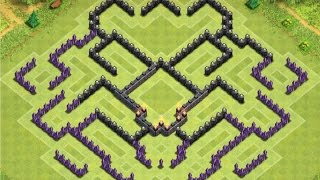 getlinkyoutube.com-Clash of Clans | TH9 Farming Base - Labyrinth Design