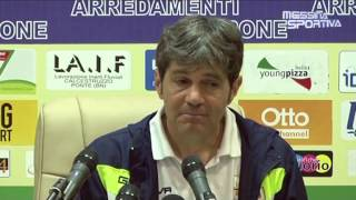 Benevento-Messina 1-1. La soddisfazione di Nello Di Costanzo in sala stampa